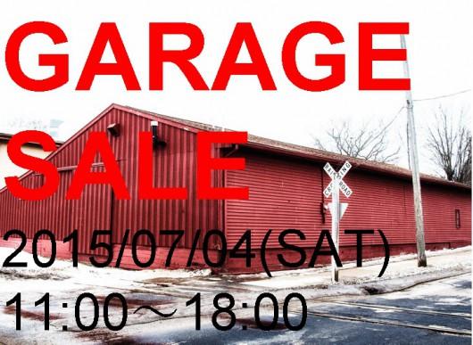 予告)GARAGE SALE 20150704