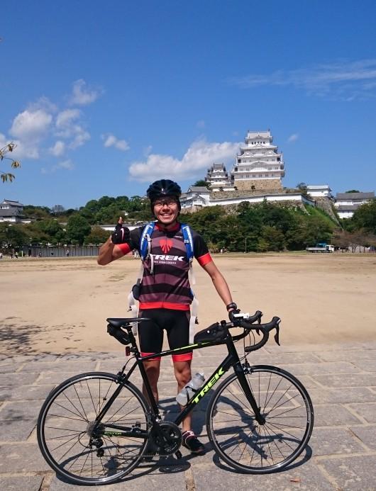 輪行で姫路城を見にサイクリングに行ってきました。