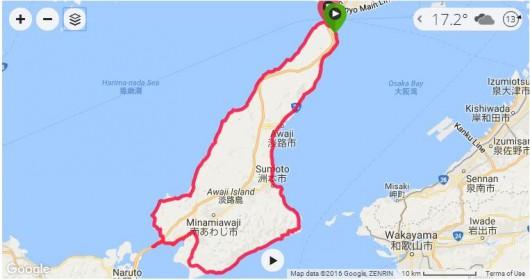 一度はチャレンジしてみたい淡路島1周約160km!ロードバイクで完全走破してきました。