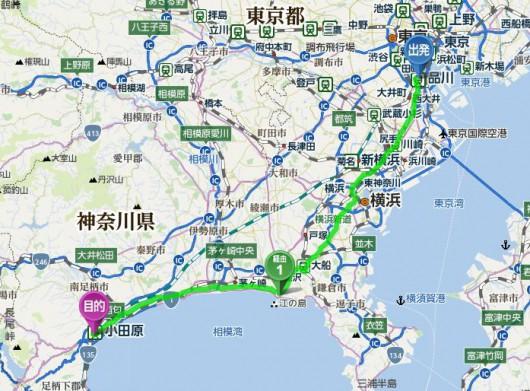冬でも走ろう! ~品川駅‐江の島‐小田原城~