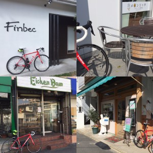 「自転車とパン屋」
