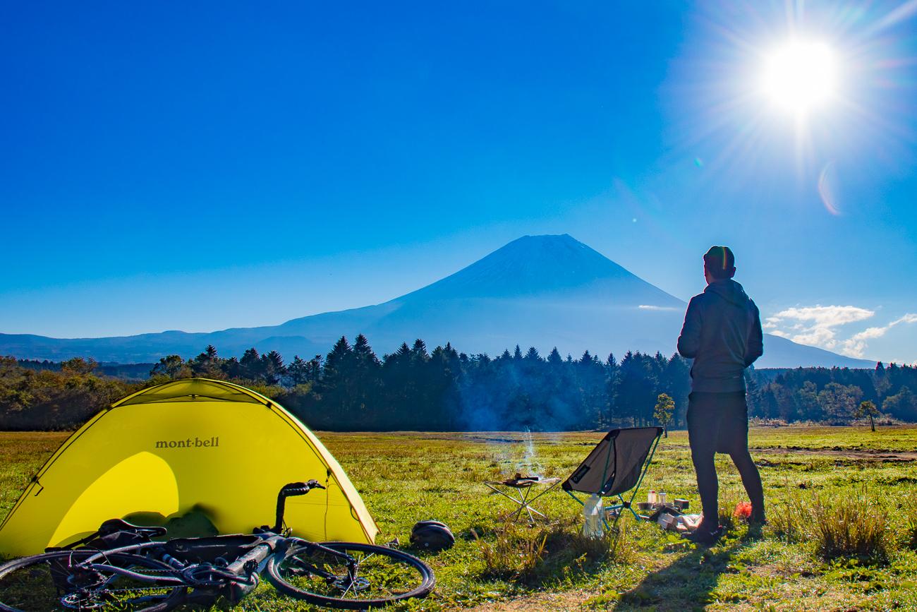 自転車キャンプどうでしょう。Checkpointでふもとっぱらへキャンプライド!!