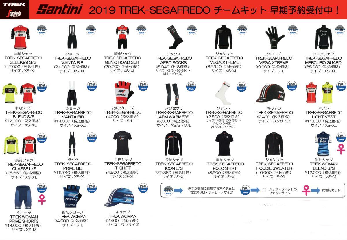 2019 TREK-SEGAFREDO チームキット VO.2 早期予約受付中!