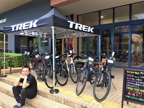 今日もぐづついたお天気ですが『TREK TEST RIDE -トレック大試乗会-』開催しております。