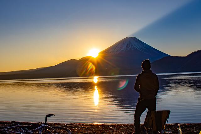 自転車で冬キャンライド!! グラベルロード Checkpointで本栖湖・浩庵キャンプ場へ行ってみた!