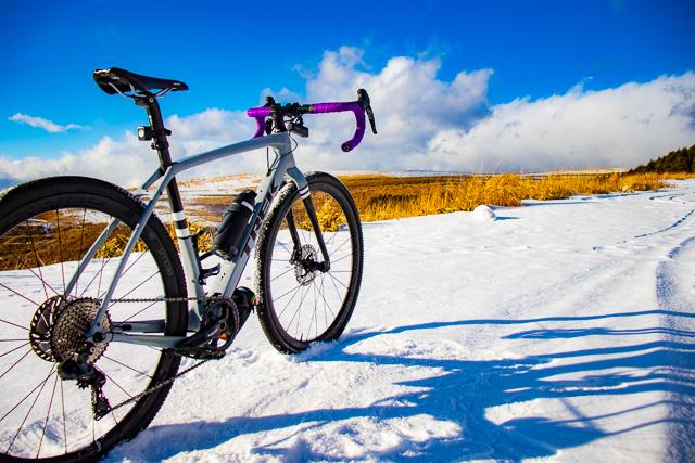 真冬のビーナスラインを自転車で走ってきました!