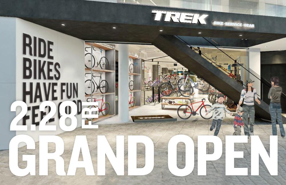 トレック直営店『TREK Bicycle 東京青山店』が 2/28(金)にグランドオープン!外苑前駅より徒歩6分