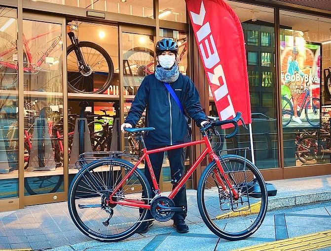 【Happy New Bike Day ! 】大阪梅田店ご納車シーン~TREK 520~