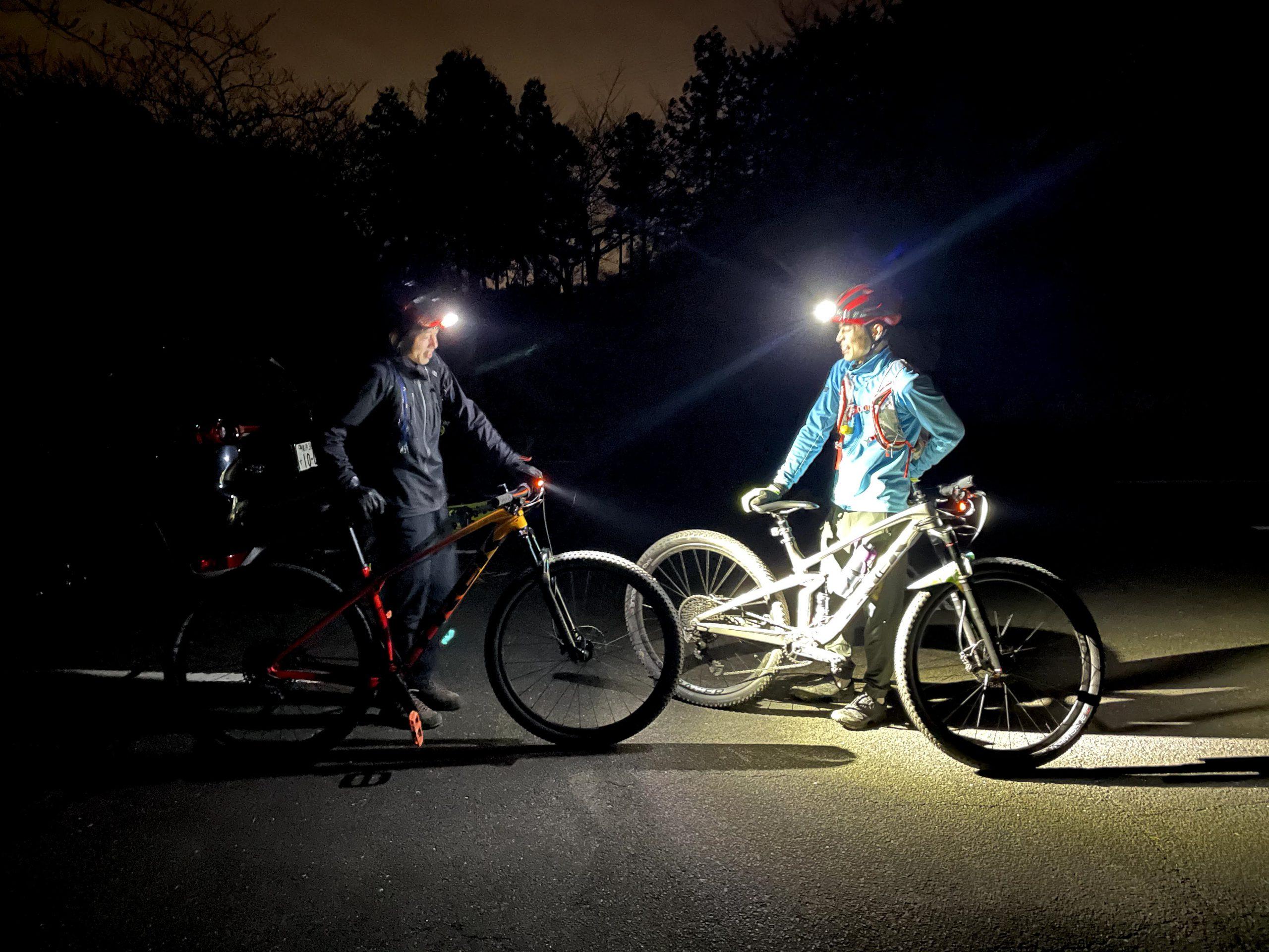 明るいライトで安心MTBライド!
